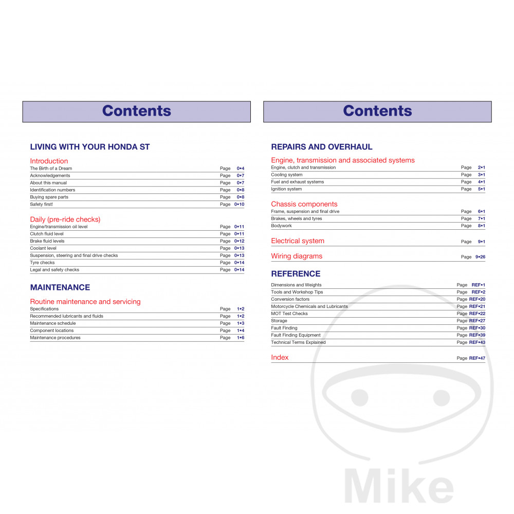 Haynes Repair Manual Honda St1100 Pan European Update Motomike Wiring Diagram Reparatur Anleitung