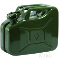 JERRY CAN 10LTR GREEN STEEL PETROL FUEL CAN