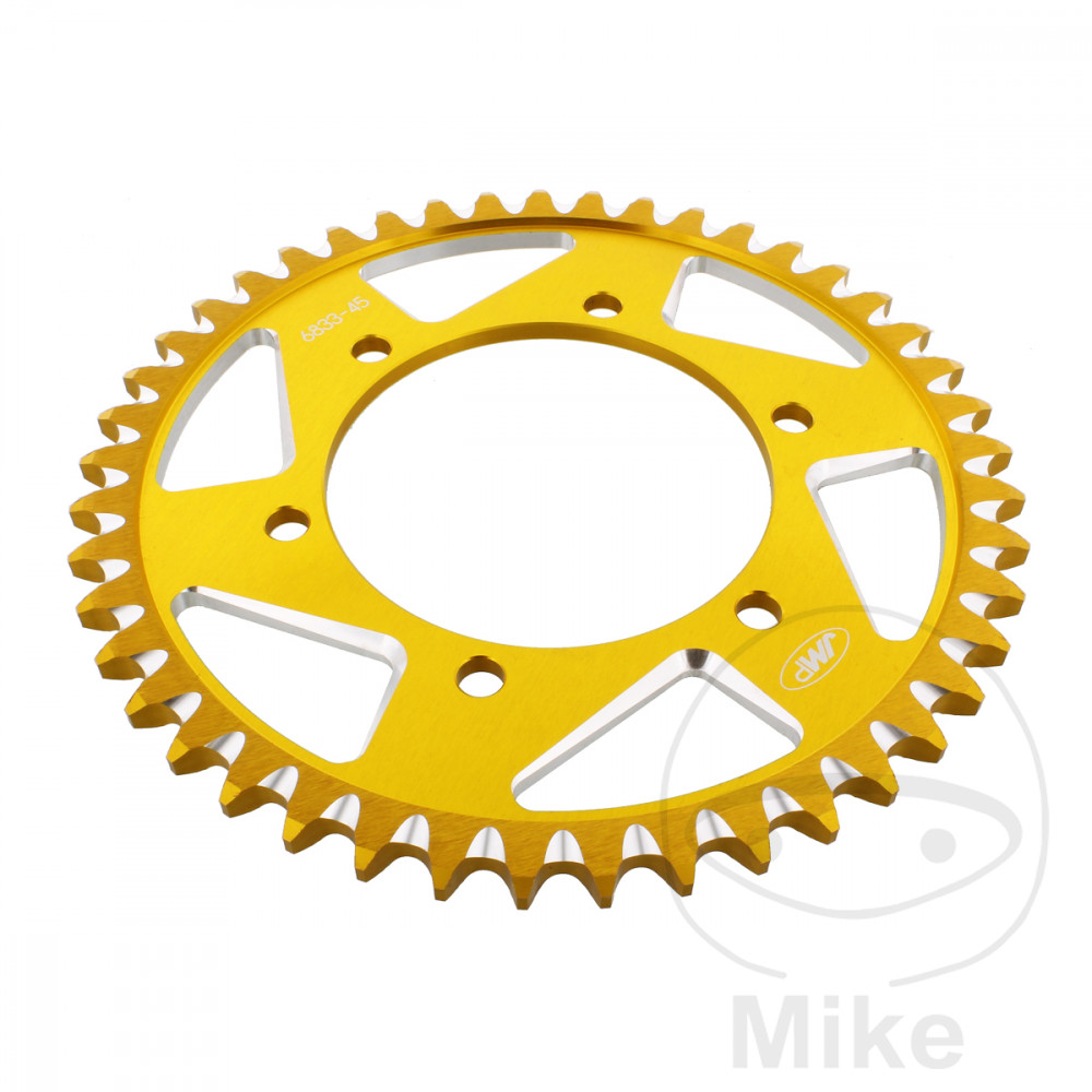 Motorcycle JMP Gold Aluminium Rear Sprocket (45 Teeth)
