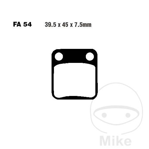 09-15 SFA54 ECO-2 125 EBC Front Left Organic SFA Brake Pads AJS JS 125-E