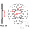 REAR SPROCKET 44 TOOTH 428 BLACK INNER DIAMETER 62 BOLT SPACING 80