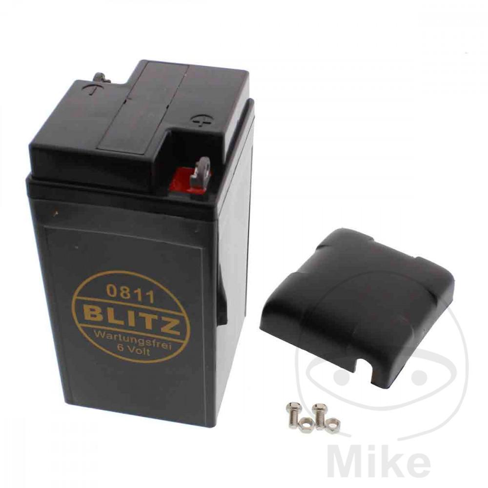 batterie motorrad 0811 gel schwarz 6v mit deckel blitz. Black Bedroom Furniture Sets. Home Design Ideas