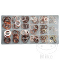 ASSORTED COPPER WASHERS CONTAINS 150 PIECES