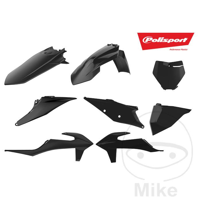 RMZ450 08-16 RFX Plastic Kit Suzuki 5 Pc Kit Black