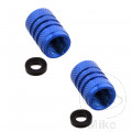 VALVE CAP KIT PROBOLT ALU BLUE (2 PIECE KIT)