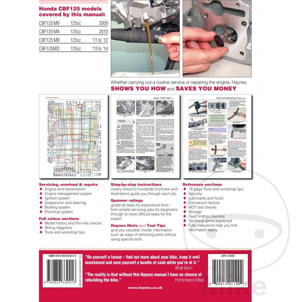 HAYNES REPAIR MANUAL HONDA CBF125 (09-14). Reparatur Anleitung Honda  Reparatur Anleitung Honda ...