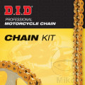 Chain kit DID 520 ATV<br /> Open with Hollow rivet link Gold/Black