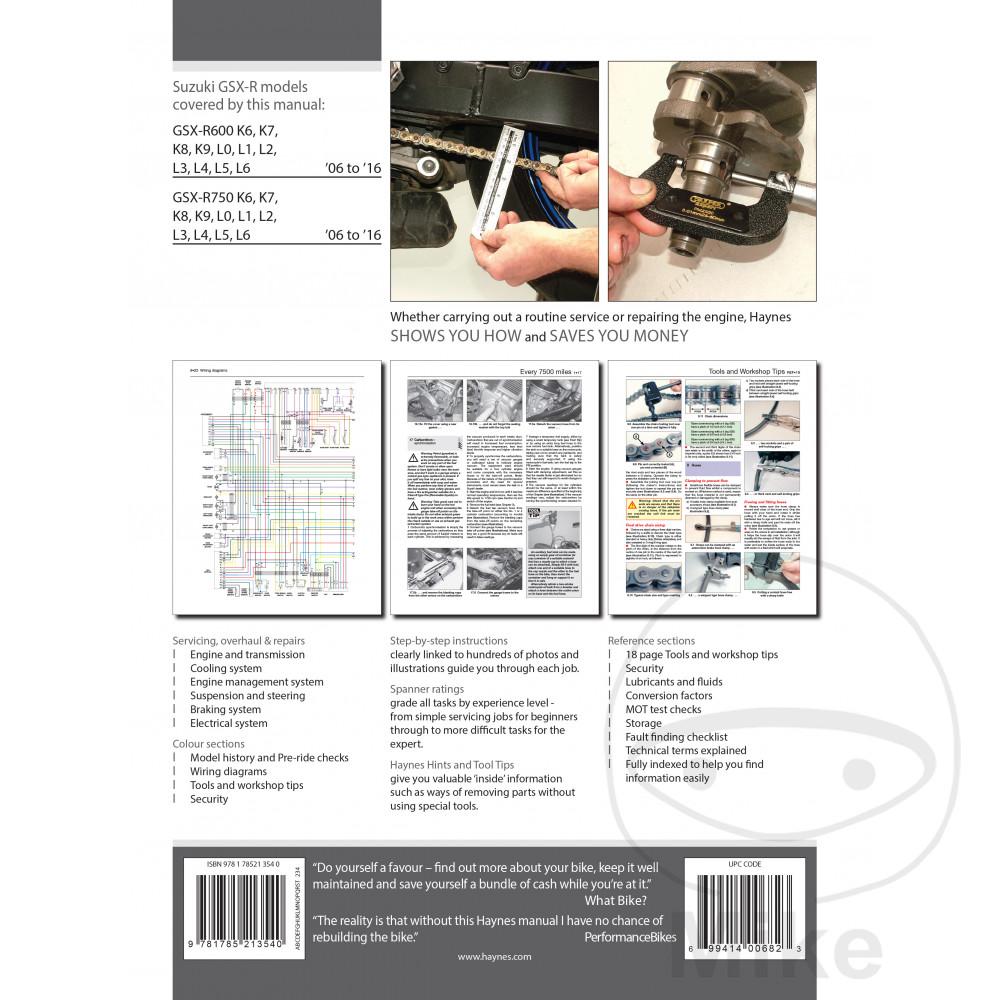 Reparatur Anleitung Suzuki Gsx R600 750 06 On Motomike K7 Wiring Diagram
