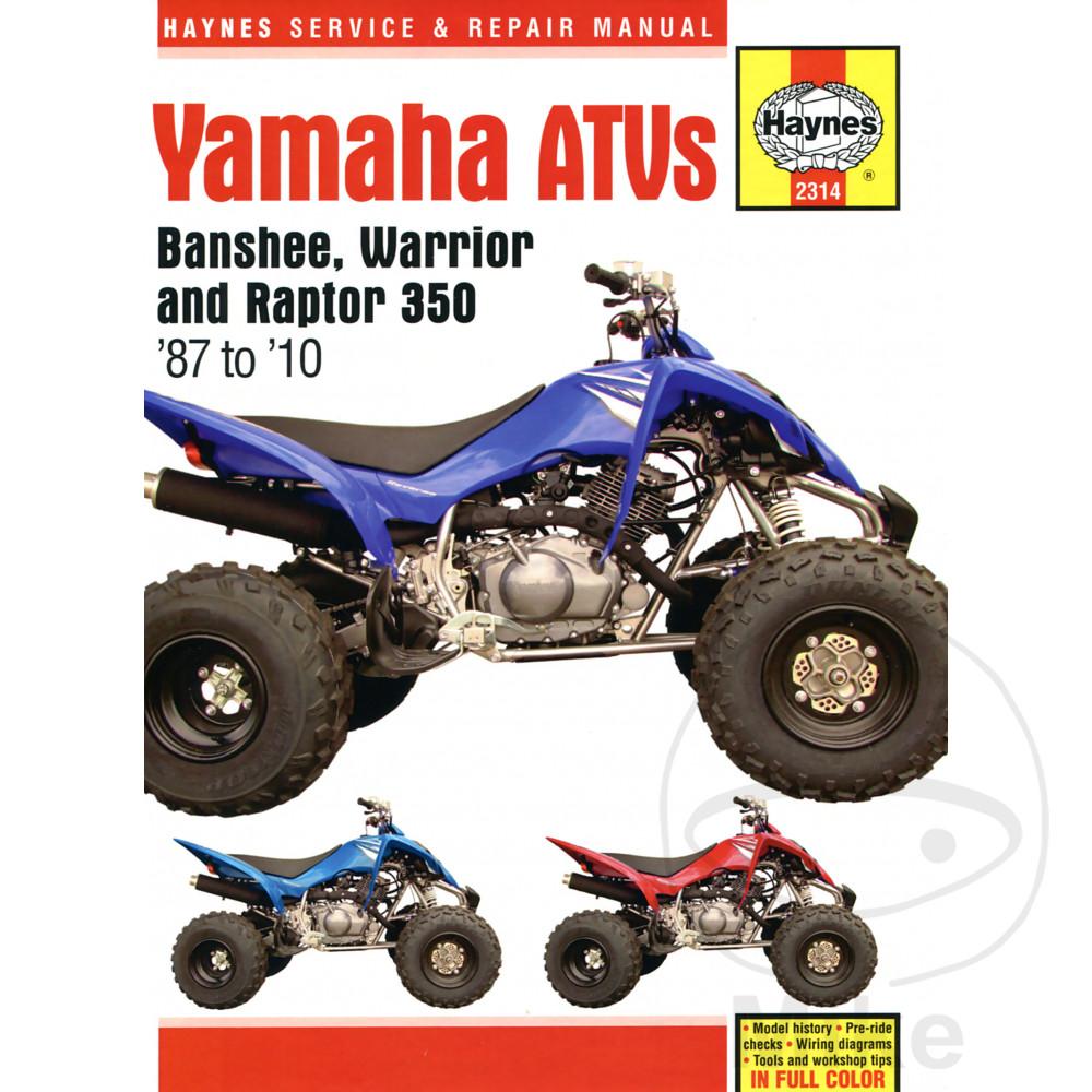 Yamaha Yfm 350 Rx Raptor 2008 Haynes Service Repair Manual 2314 Ebay 2006 Weekend Warrior Wiring Diagram Sentinel