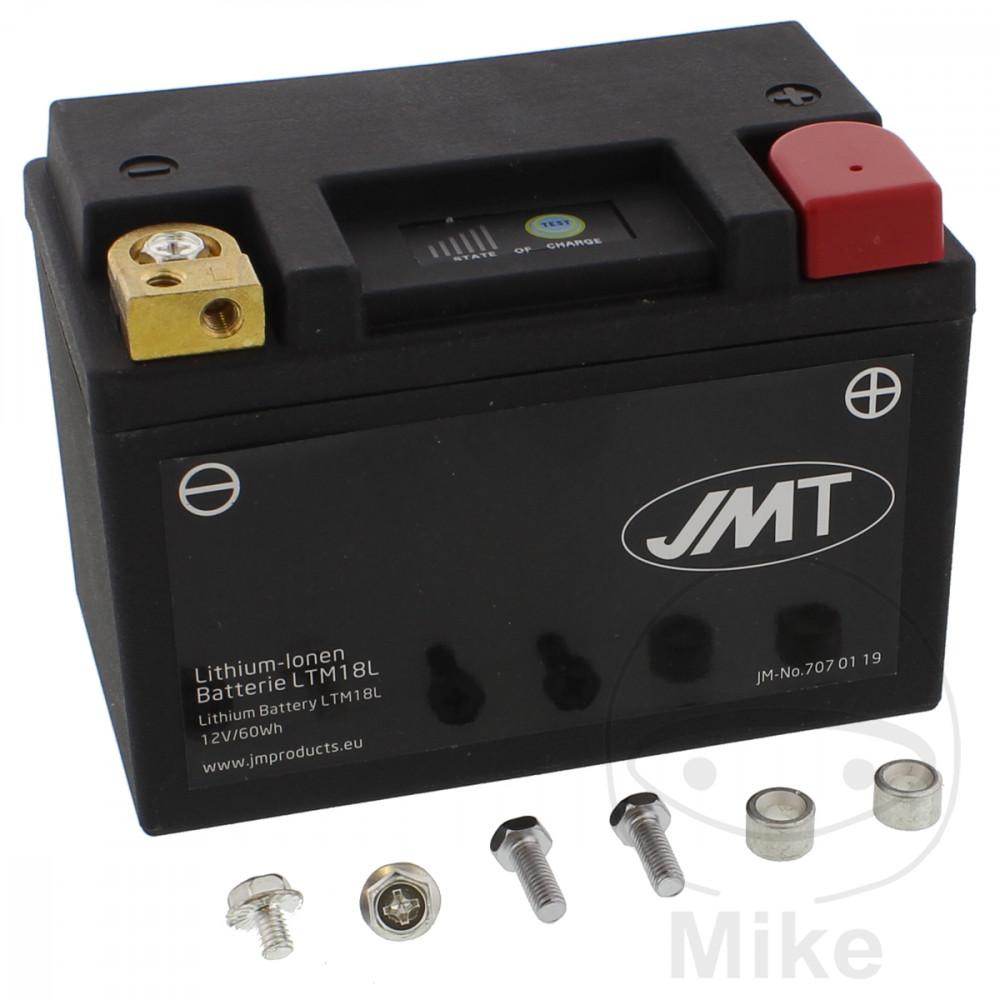 batterie motorrad ltm18l jmt lithium ionen mit anzeige. Black Bedroom Furniture Sets. Home Design Ideas