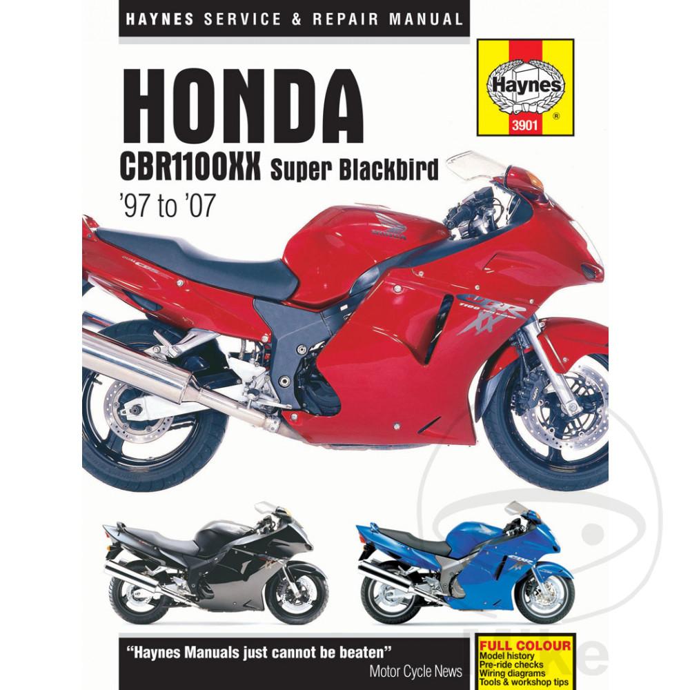 HAYNES REPAIR MANUAL HONDA CBR1100XX SUPER BLACKBIRD 1997 -2007. Reparatur  Anleitung Honda Reparatur Anleitung Honda