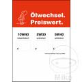 Poster A1 OELWECHSEL PREISWERT Inklusive Rolle