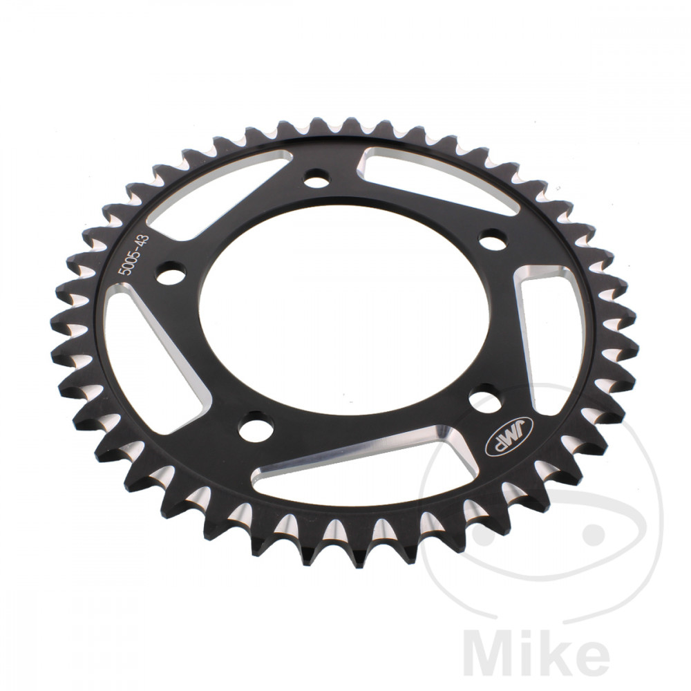 Motorcycle JMP Black Aluminium Rear Sprocket (43 Teeth)