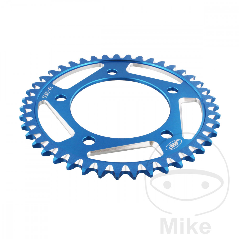 Motorcycle JMP Blue Aluminium Rear Sprocket (43 Teeth)