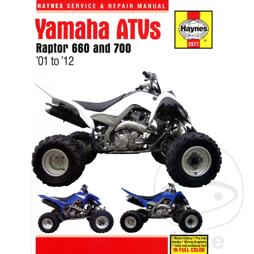 haynes repair manual yamaha raptor 660 700 atvs 2001 2012 rh brooksbarn com manual taller raptor 700 español manual usuario raptor 700 español