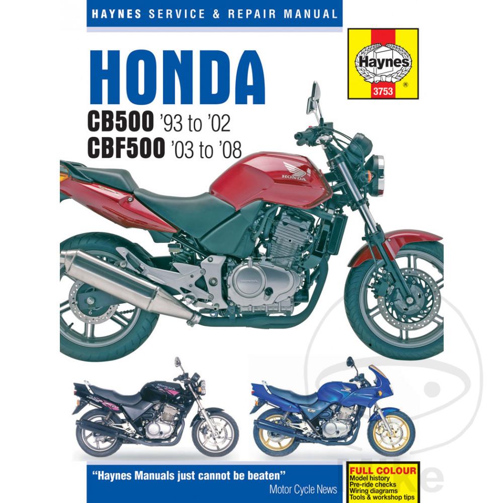 Honda Cb 500 S Sport 1999 Haynes Service Repair Manual 3753 Ebay Cagiva Elefant Wiring Diagram Sentinel Motorcycle
