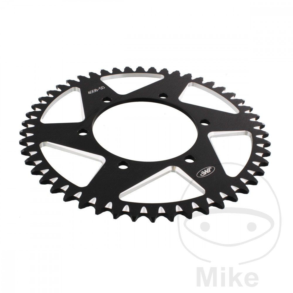 Motorcycle JMP Black Aluminium Rear Sprocket (50 Teeth)