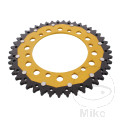 REAR SPROCKET DUAL 45 TOOTH PITCH 520 GOLD ZF INNER DIAMETER 125 BOLT SPACING 145