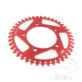 REAR SPROCKET ALU 42 TOOTH PITCH 520 RED JMP INNER DIAMETER 100 BOLT SPACING 120