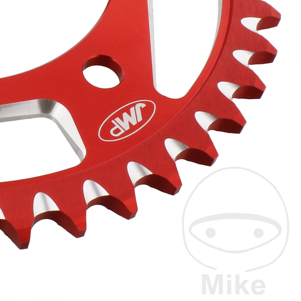 Motorcycle JMP Red Aluminium Rear Sprocket (43 Teeth)