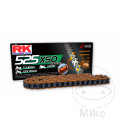 RK X-RING CHAIN ORANGE 525XSO/108 OPEN CHAIN WITH RIVET LINK