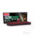 RK X-RING CHAIN RED 525XSO/108 OPEN CHAIN WITH RIVET LINK
