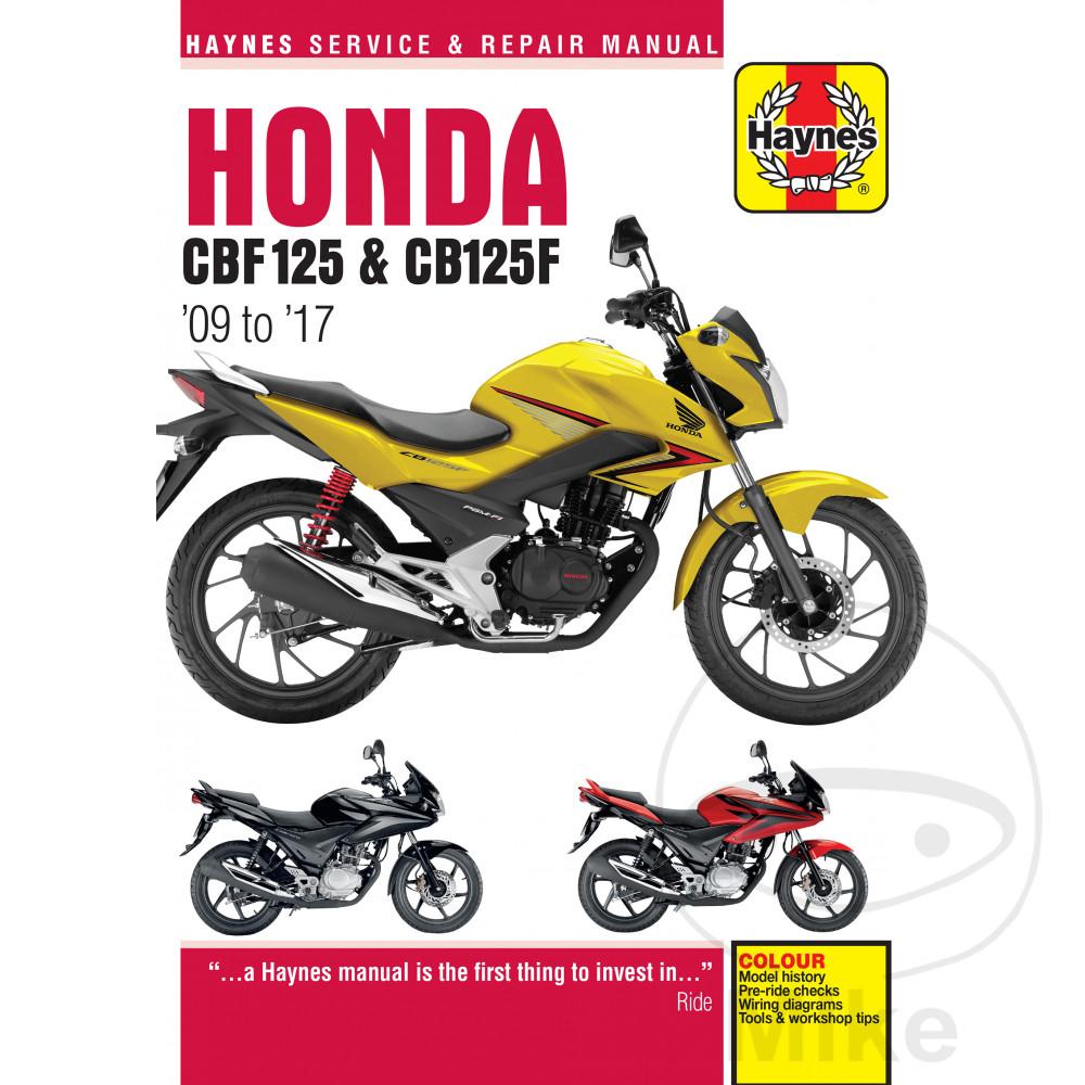 HAYNES REPAIR MANUAL HONDA CBF125 (09-14). Reparatur Anleitung Honda  Reparatur ...