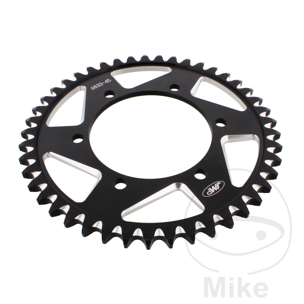 Motorcycle JMP Black Aluminium Rear Sprocket (45 Teeth)